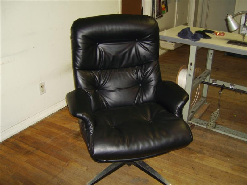 Leather Office Chair- Commercail Upholstery – Austin,Tx
