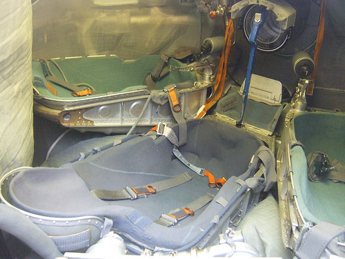 Soyuz Spacecraft Seat- Spacecraft Upholstery- Custom Upholstery AUSTIN, TX
